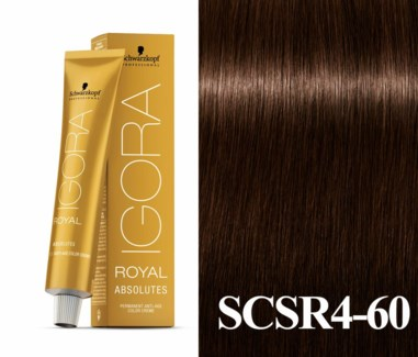 New 4-60 Dark Brown Chocolate Natural Absolute Igora Royal