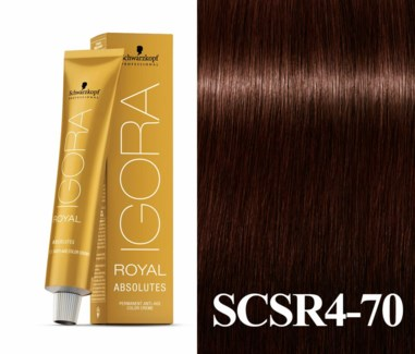 New 4-70 Dark Brown Copper Natural Absolute  Igora Royal