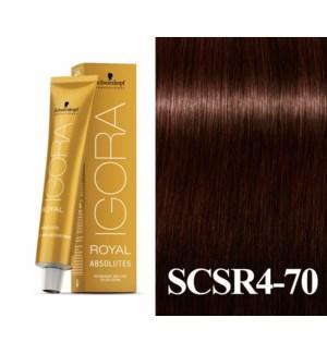 New 4-70 Dark Brown Copper Natural Absolute  Igora Royal