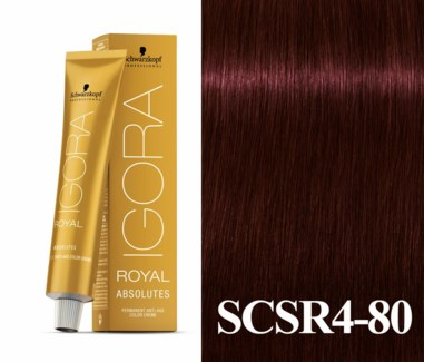 New 4-80 Dark Brown Red/Violet Natural Absolute Igora Royal