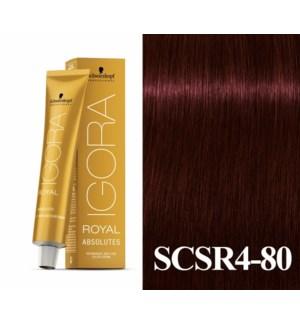 New 4-80 Dark Brown Red/Violet Natural Absolute Igora Royal