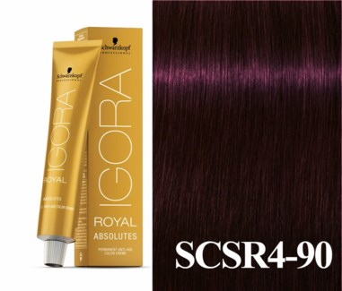 4-90 Black Red/Violet Natural Absolute Igora Royal