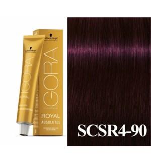 4-90 Black Red/Violet Natural Absolute Igora Royal