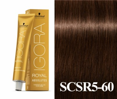 5-60 Medium Brown Chocolate Natural Absolute Igora Royal
