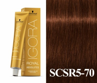 New 5-70 Medium Brown Copper Natural Absolute Igora Royal