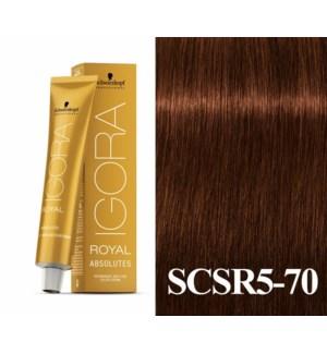New 5-70 Medium Brown Copper Natural Absolute Igora Royal