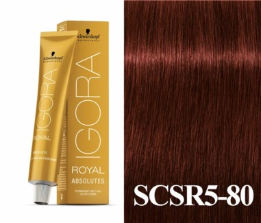 5-80 Medium Brown Red/Violet Natural Absolute Igora Royal