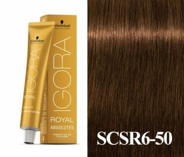 New 6-50 Light Brown Gold Natural Absolute Igora Royal