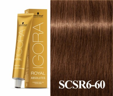 6-60 Light Brown Chocoloate Natural Absolute Igora Royal