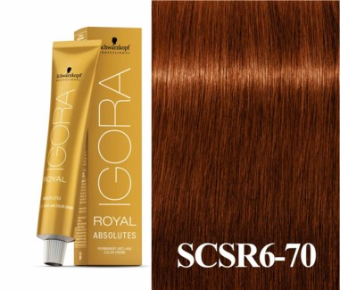 6-70 Light Brown Copper Natural Absolute Igora Royal