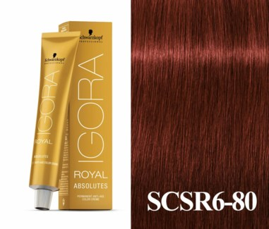 6-80 Light Brown Red/Violet Natural Absolute Igora Royal