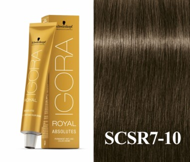 7-10 Medium Blonde Cendre Natural Absolute Igora Royal