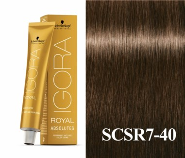 7-40 Medium Blonde Beige Natural Absolute Igora Royal