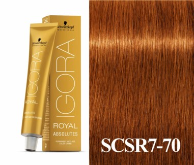 7-70  Dark Blonde Copper Natural Absolute Igora Royal