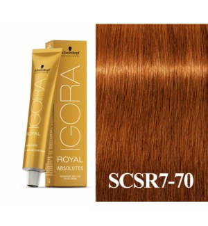 7-70  Dark Blonde Copper Natural Absolute Igora Royal
