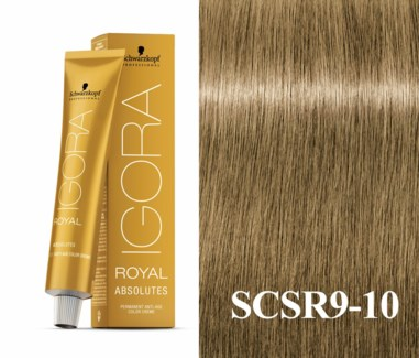 9-10 Extra Light Blonde Cendre Natural Absolute Igora Royal
