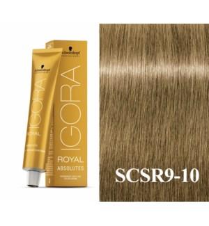9-10 Extra Light Blonde Cendre Natural Absolute Igora Royal