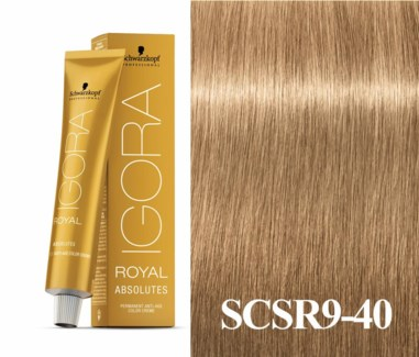 9-40 Extra Light Blonde Beige Natural Absolute Igora Royal