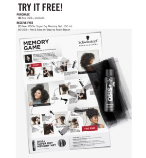! OSIS+ SL Super Dry Memory Net Kit BUY 6 OSIS JA19