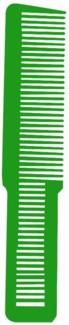 * Lime Green Clipper Cut Comb