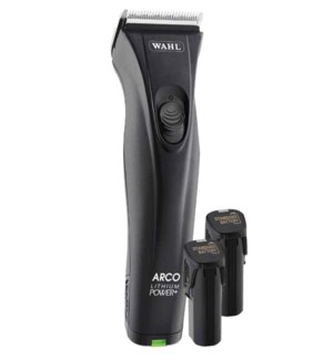 WAHL Lithium Arco Cordless Clipper (with 6 guides, rotary motor & 2 battery packs)