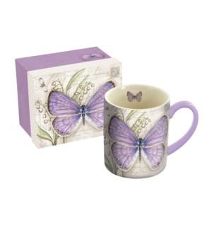 MUG/Lavender Butterfly