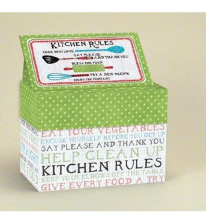 RCPCARDBX/Kitchen Rules