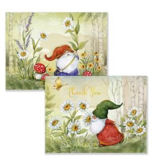 ASSTNOTECARD/Garden Gnomes