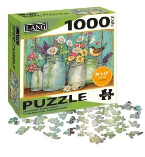 PUZZLES/1000PC Mason Flowers