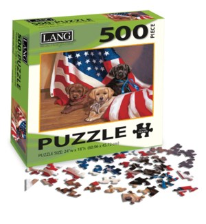 PUZZLES/500PC American Puppy
