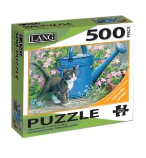 PUZZLES/500PC Garden Cat