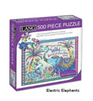 PUZZLES/500PC Elephants