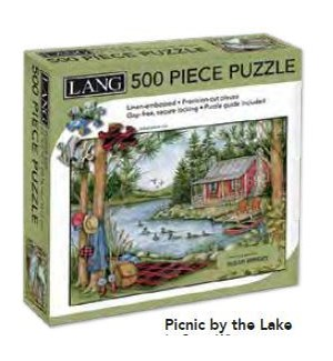 PUZZLES/500PC Picnic By Lake