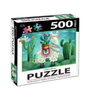 PUZZLES/500PC Cactus Llama