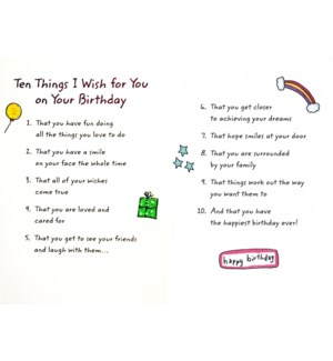 BD/Ten Things I Wish For You