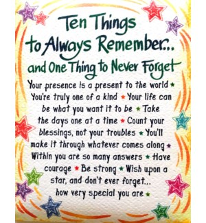 MAG/Ten Things To Always Remem