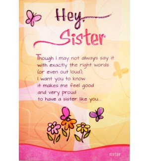 SI/Hey Sister Though I May Not