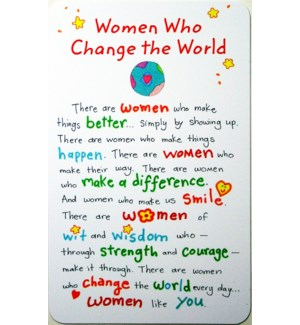 WLTCRD/Women Who Change The