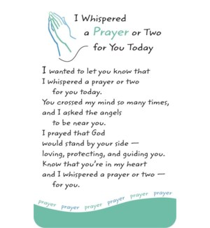WLTCRD/I Whispered A Prayer