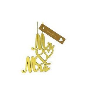 TOPPER/Mr & Mrs Gold Foil Dec