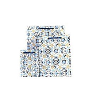 GIFTBAG/Boho Tile Blue