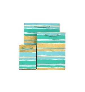 GIFTBAG/Paint Stripe Mint