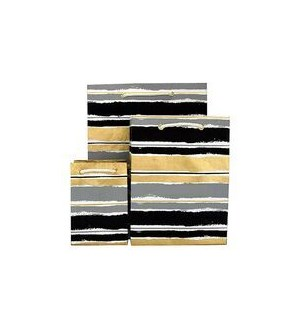GIFTBAG/Paint Stripe Blk