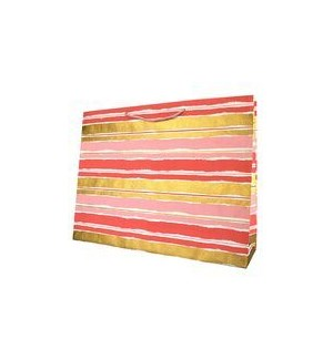 GIFTBAG/Paint Stripe Pink