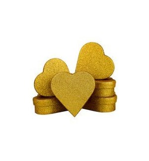 MINIBOX/Gld Gltr Heart Mni s