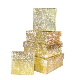 GIFTBOX/Gold Crush Sq Nst