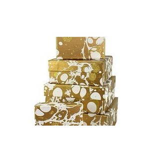 GIFTBOX/Gltr Mrbl Gold Sq