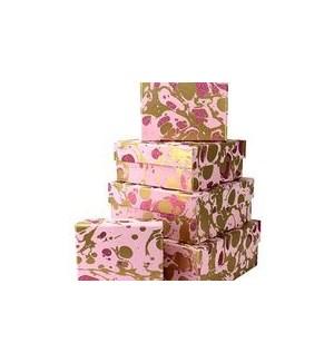 GIFTBOX/Gltr Mrbl Pink Sq