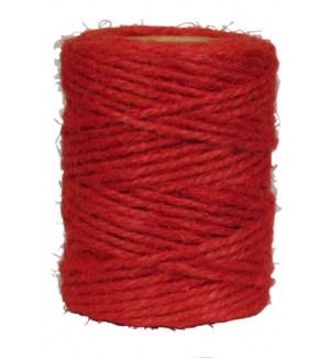 TWINE/Nat Jute Twine 50M Red