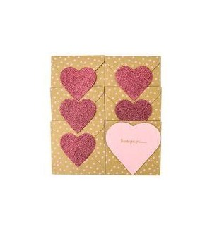 NOTECARD/Ty Notelets Pink
